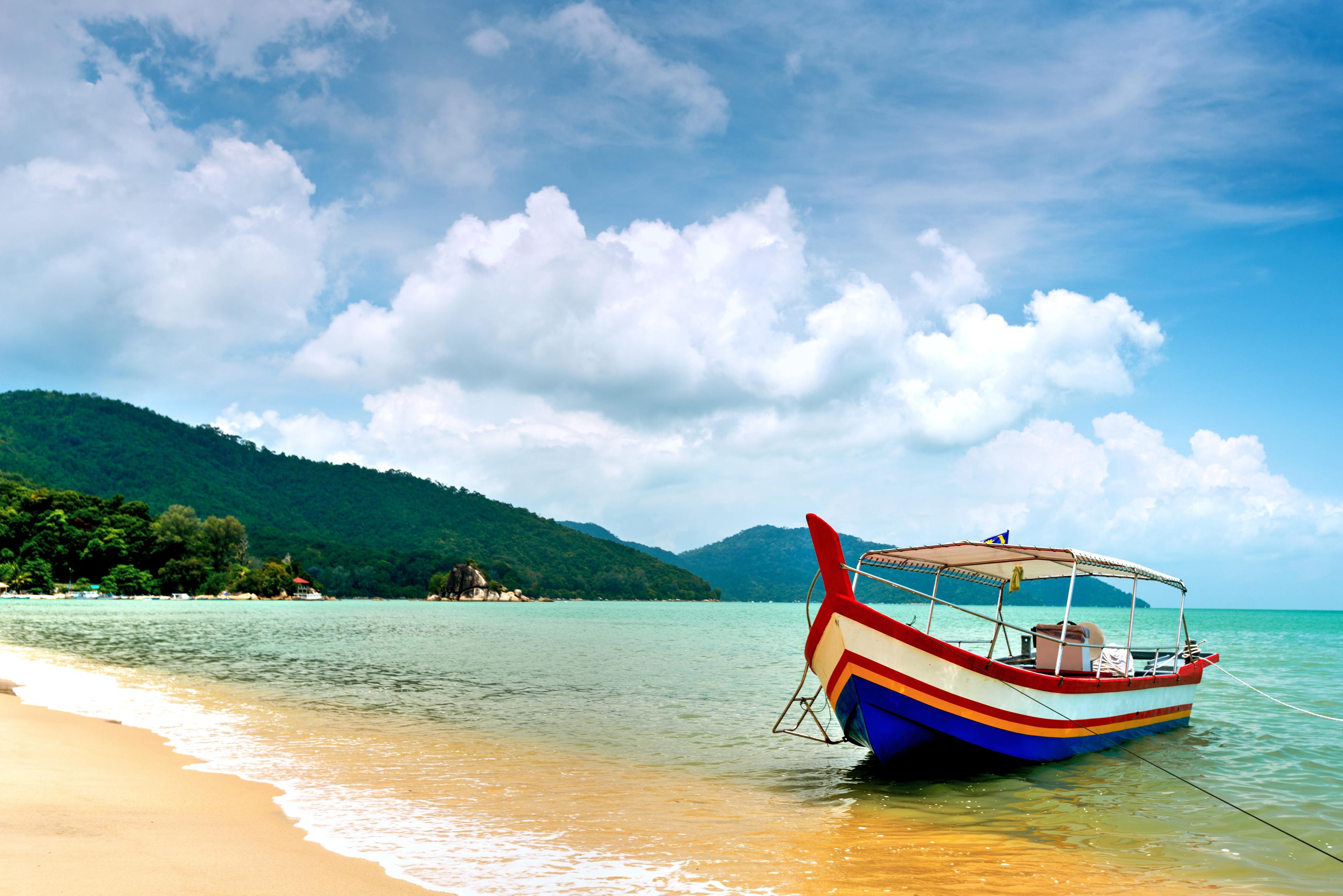Beach Scene in Penang, Malaysia